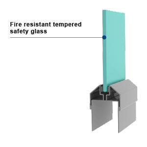 PYROSWISS 20 in VDS HM - Fire Rated Glass in VDS Hollow Metal Doors