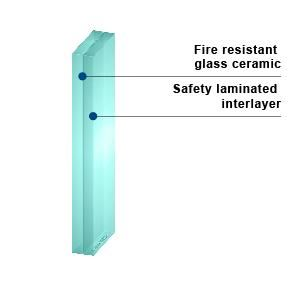 KERALITE LAMINATED 45 - Fire Rated Laminated Glass