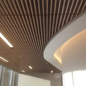 Linear Wood Grille Ceiling Systems