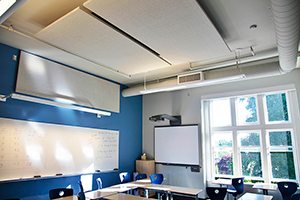 Acoustical Fabric Wrapped Panels Featuring AirRenew