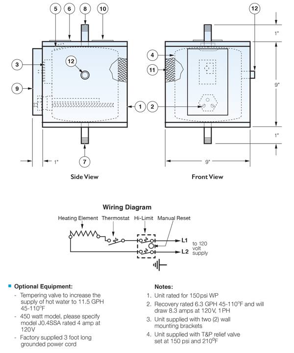 Model j1ssa compact point of use electric water heater hubbell model j1ssa compact point of use electric water heater ccuart Image collections