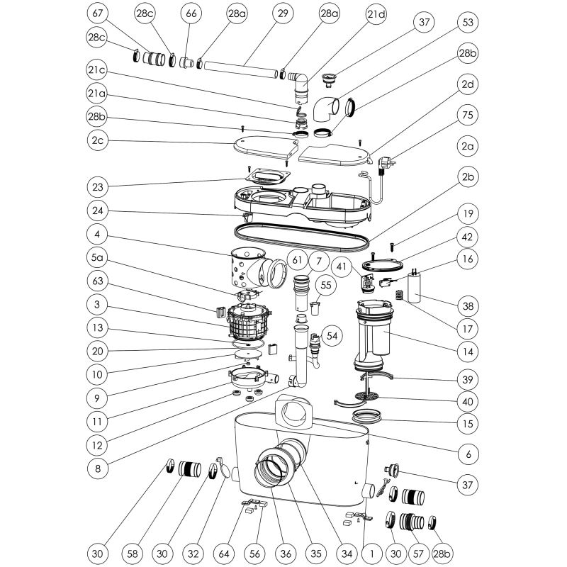 Saniaccess3 Macerating Pump System Saniflo
