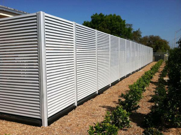 Aluminum Fixed Louver Fence - Aluminum Fixed Louver Fence