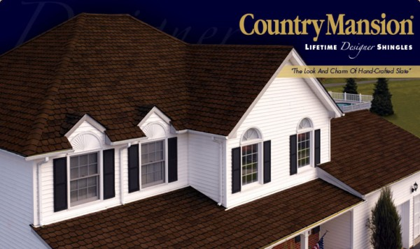 Country Mansion® Lifetime Designer Asphalt Shingles