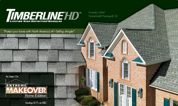 Timberline® HD™ Lifetime High Definition® Asphalt Shingles