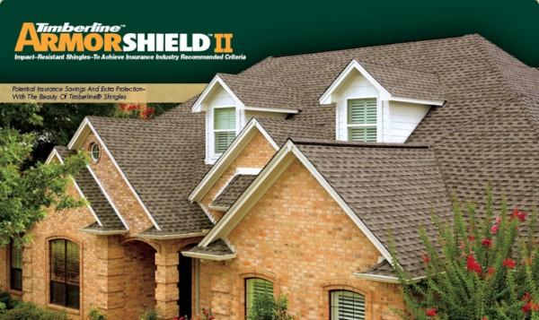 Timberline® ArmorShield II Impact-Resistant Asphalt Shingles