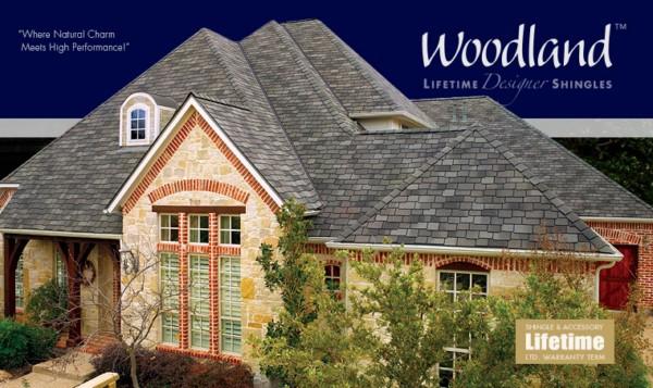 Woodland™ Lifetime Designer Asphalt Shingles