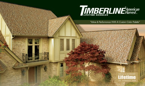 Timberline® American Harvest™ Lifetime Shingles