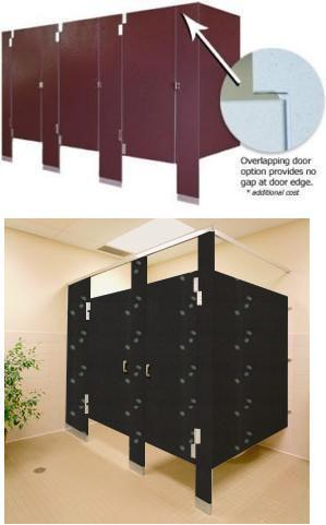 High Density Polymer Toilet Partitions