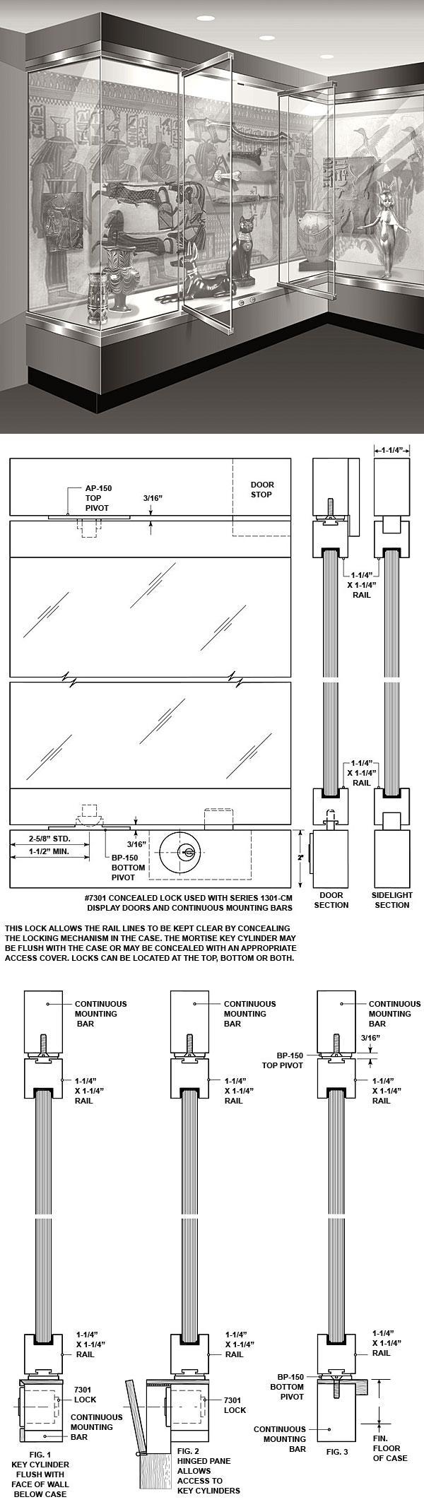 1301-CM Display Case Doors