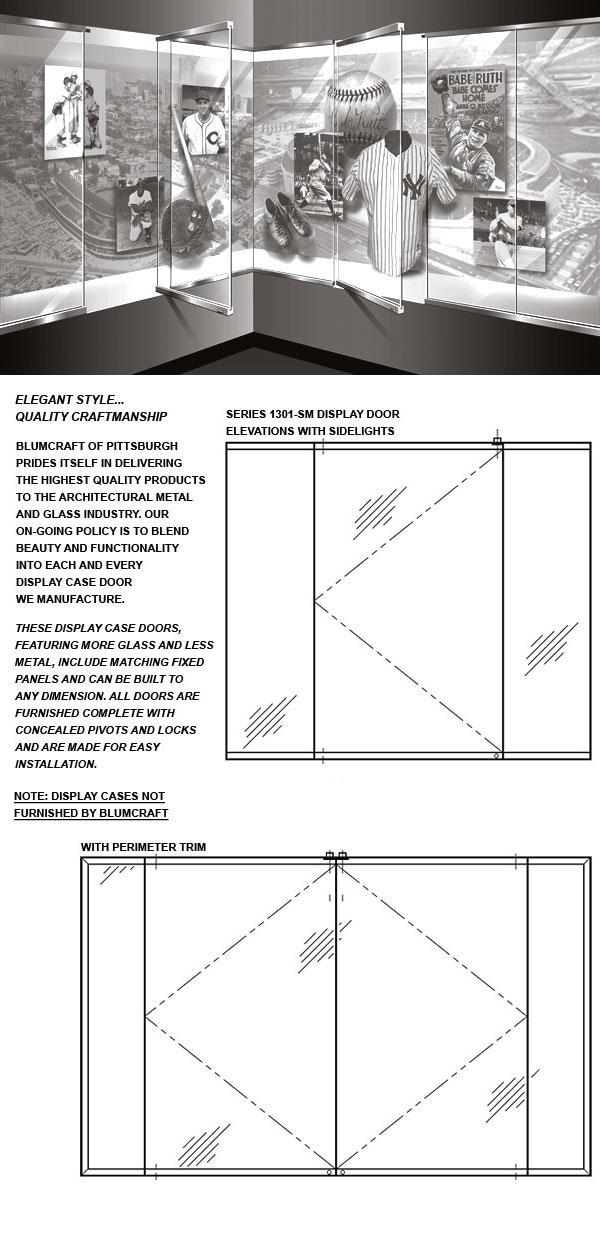 1301-SM Display Case Doors