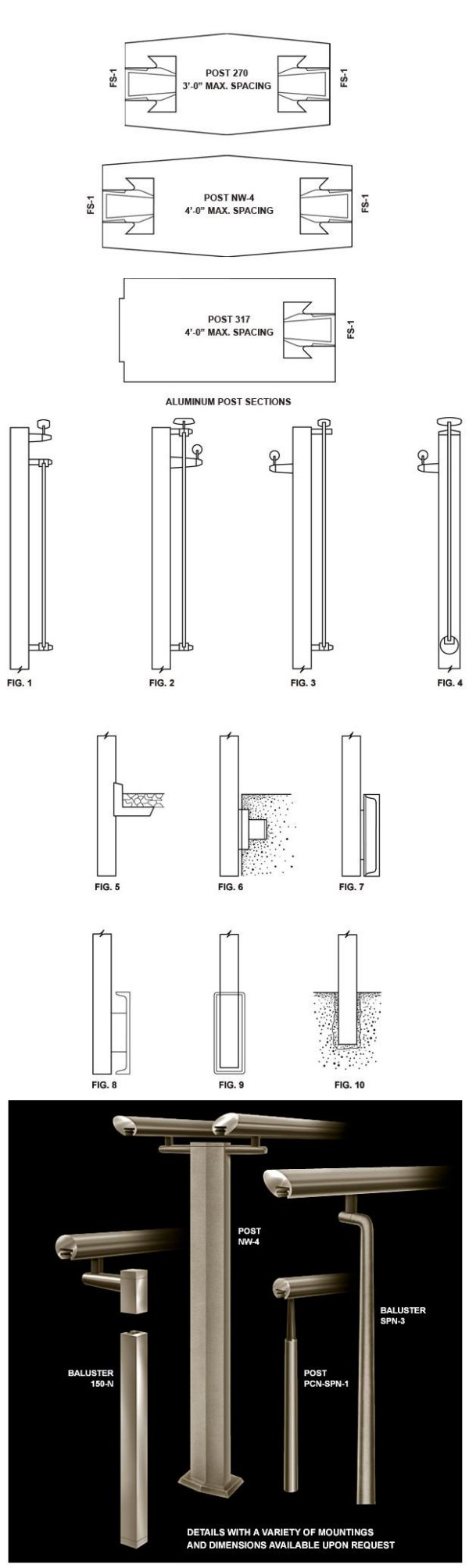Aluminum Posts and Balusters