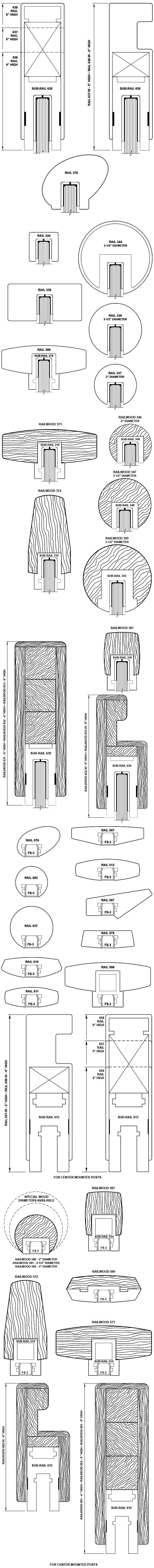 Aluminum and Railwood Handrails