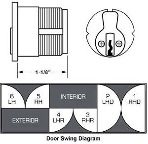 Tubular-Hardware: Panic Device H-100,Deadbolt Housing DB-100,Dummy Handle DH-100