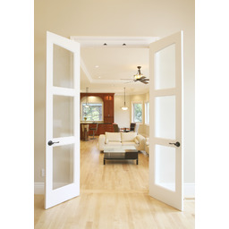 Slimfold® Alterra Collection Solid Wood Frosted Glass Doors