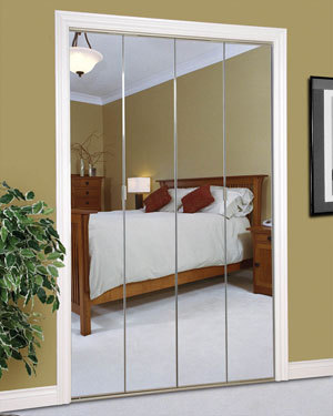 Captivating Slimfold Bifold And Overlay Mirrored Doors