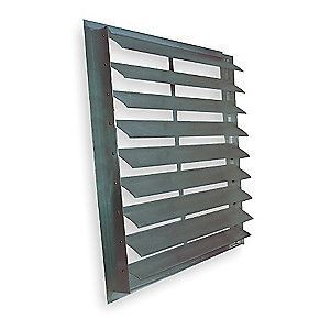 Aluminum Exterior Wall Mount Exhaust Shutters, Rear Mount Flange U2013 Battic Door  Attic Access Solutions   Sweets
