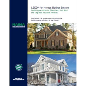 Certainteed insulation green info construction for Leed for homes rating system