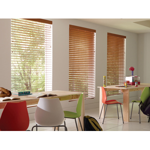 Lafayette Interior Fashions   Contract  Wonderwood Fire Rated Faux Wood  Blinds