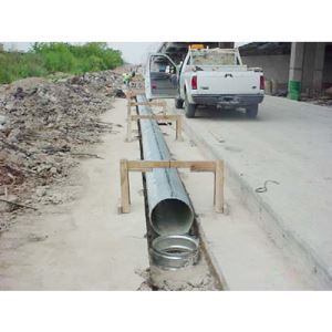 Slotted Drain Corrugated Metal Pipe