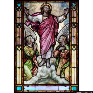 Glorious Ascension Panel 1230 Stained Gl Window Insert