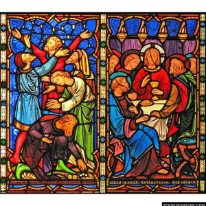 Manna And Bread Panel 3796 Stained Gl Window Insert Inc Sweets