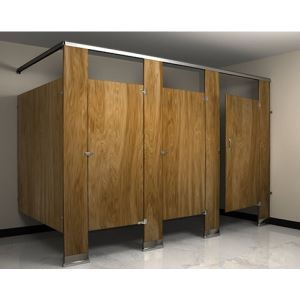 Flushite Solid Polymer Plastic Toilet Partitions Flush Metal - Solid plastic bathroom partitions
