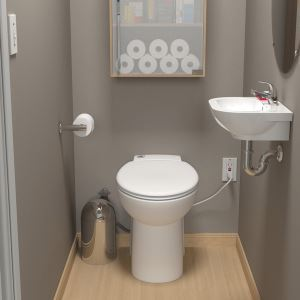 Sanistar 174 Self Contained Toilet And Macerating Pump System