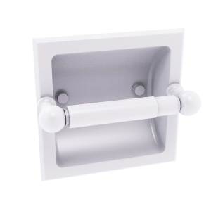 Dottingham Collection Recessed Toilet Paper Holder Matte White