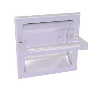 Montero Collection Recessed Toilet Paper Holder Satin Chrome