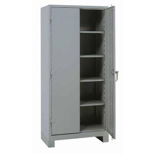 Lyon, LLC  All Welded Storage Cabinet Diamond Perforated Doors 48u2033w X 24u2033d  X 82u2033h