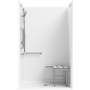 Fiberglass shower stalls Extra Large Shower Everfab Ada Compliant One Piece Fiberglass Shower Stall S6334a Beyond Peekaboo Ada Compliant One Piece Fiberglass Shower Stall S6334a Everfab