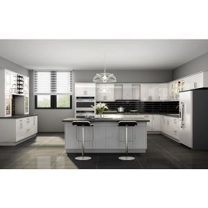 Luxury Kitchen Cabinets Lacquer Shake White And Lacquer Shaker Grey Goldenhome Sweets