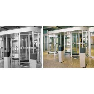 Stanley rush 4500 series three or four wing manual security revolving door stanley access for Stanley home design software free download