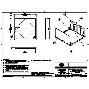 FDEPA Aluminum Double Door Existing Opening Floor Door-Nystrom