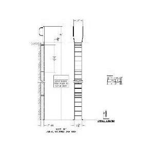 Architectural Details - Architekwiki   Roof Access Ladder Drawing