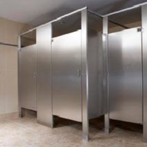 Stainless Steel Toilet Partitions And Urinal Screens Bradley - Stainless steel bathroom partitions