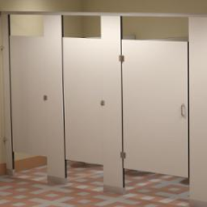 Solid Phenolic Core Toilet Partitions And Urinal Screens