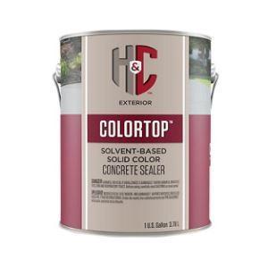 H Amp C Colortop Solvent Based Solid Color Concrete Sealer