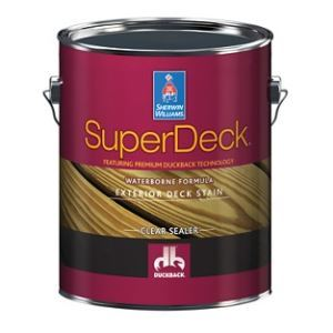 Superdeck Exterior Waterborne Clear Sealer Sherwin Williams