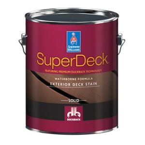 SuperDeck Exterior Waterborne Solid Color Deck Stain – The Sherwin ...