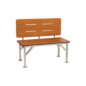 Stationary Bench Seat With Backrest Seachrome