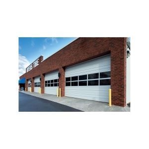 Ribbed Open Back Amp Insulated Doors Overhead Sectional