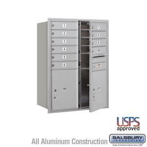 4c Recessed Mounted Mailboxes Model 3711d 10afu Salsbury Industries Sweets