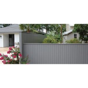 Architectural Privacy Fence – Berridge Metal Roof and Wall
