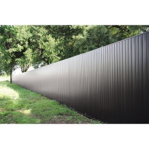 Architectural Privacy Fence – Berridge Metal Roof and Wall Panels
