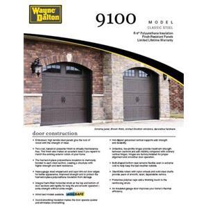 Steel garage door 9100 classic steel garage door collection