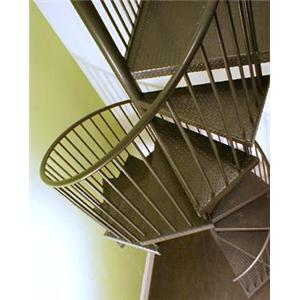 Stairways, Inc.   Metal Fully Assembled Spiral Stairs