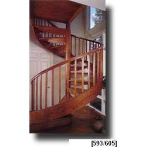 Beau Stairways, Inc.  Wood Spiral Stairs
