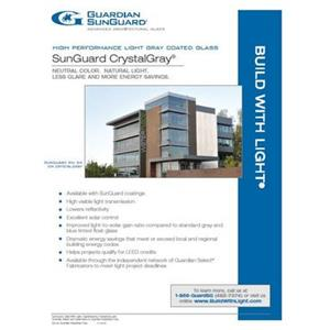 SunGuard CrystalGray Flyer-Guardian Industries Corp.